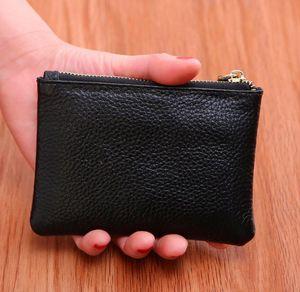 Mini Wallet Men Women Leather Purse Solid Color Simply Coin Key Pocket Wallets Card Coin Storage Purse Durable Unisex Wallet EWC4061