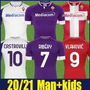 20 21 Fiorentina Futbol Forması 2020 2021 ACF Fiorentina Vlahovic Culion Ribery Futbol Jersey C.Kouame Castrovilli Milenkovic Futbol Gömlek