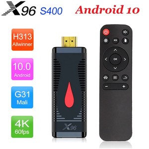 X96 S400 Android 10.0 TV Stick 2GB + 16GB Allwinner H313 Caja de Telv Android 2.4G WiFi PK X96 Caixa de TV Android