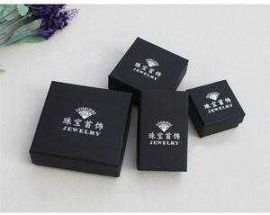 Vintage DIY Boîte à papier Kraft Collier Femme Bijoux Conteneur Noir Ornements Emballage Cadeau Case Chaude Vente Chaude Vente chaude 1 3LS10 L2