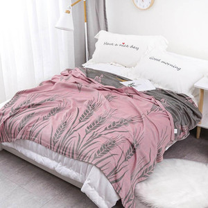 40Cotton Muslin Home Bed Blanket Breathable Throw Quilt For Picnic Travel Baby Comforter