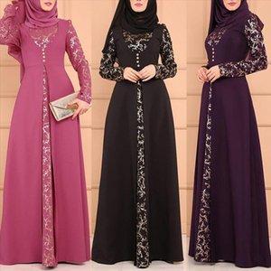 Party Elegant Muslim Women Long Sleeve dress Dubai Kaftan Maxi Dress without Hijab For Ladies Elegant enchantment Dresses Hot