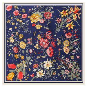Lesida Pure шелковый шарф женщины большие шали с цветочным дизайном квадратные шарфы ECHARPES FOLARS FEMME WRAP BANDANAS 130 * 130CM LJ201027