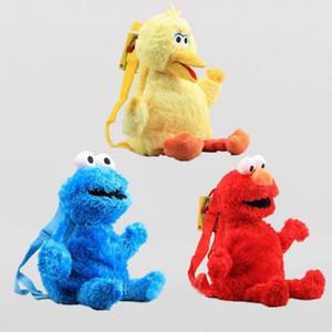 3 styles western dessin animé sésame street sac rouge elmo bleu cookie mec jaune gros oiseau peluche sac à dos pour garçons et filles jouets