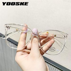 Yooske Mulher Blue Light Bloqueando óculos Tr90 Eyeglasses Quadro Vintage Clássico Computador Transparente Espetáculos Quadros