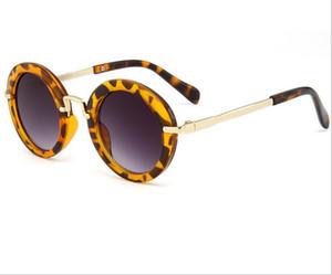 Enfants rondes lunettes de soleil vintage garçons Sport Sun Sun Sun Glass Girl Flower Print Eyewear Fashion Enfants Summer Beach Sunblock Accessoire PPE3649
