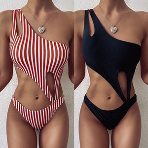 Fashion Stripe Printed Women Swimwear Designer Swimsuits Sexy Slim One Piece Sets Casual Summer Bikini Womens Clothing