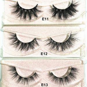 Mink Eyelash 3D Mink Lashes Natural False Eyelashes Makeup Handmade Natural Full Volume Lashes 3D Mink Eyelashes E series