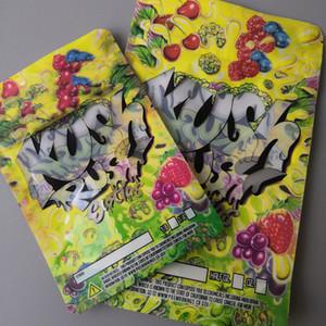 Две размеры Куш-тороп Экзотики Сумки для уплотнения молнии для свежести детские цветы упаковки 3,5 г или 7 г Mylar Bags Kush Rush Mylar Bagsgh