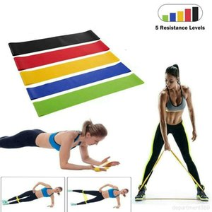 5pcs lot resistance bands set Pull Rope Levels Latex exercise equipment Strength Fitness Rubber bodybuilding workout band Party DHA9