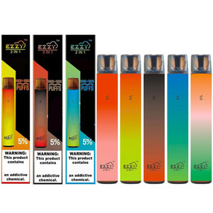 100% original Ezzy Super 2 en 1 Diseño Vape desechable con batería de 900mAh 6.5ml Pod 2000Puffs vs Air Bar Lux Plus
