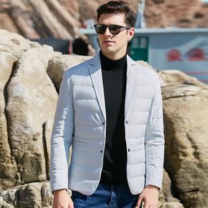 UCAK-Marke 90% Weiße Ente hinunter Jacken Anzug Kleidung Männer Neue Klassische Streetwear Abzugskragen Feder Blazer U8029