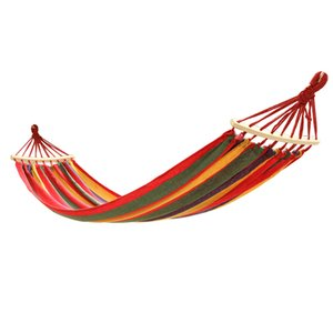 New Outdoor Parachute Cloth Hammock Foldable Field Swing Hanging Bed Nylon 12 Color With Rope Carabiners Hammocks free shipping 80301
