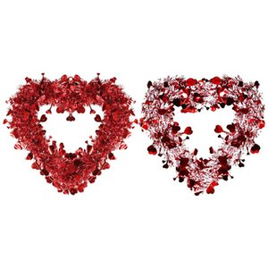 Valentine's Day Gift Deco Room Artificial Flower Rose Bud Vine Circle Decorative Rose Wreath Home Wedding Deco Garland