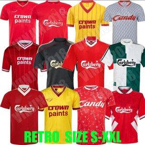 04 05 Gerrard Barnes Retro Soccer Jersey 2005 Owen Dalglish 00 01 96 97 10 11 Torres 08 09 89 91 85 86 Fowler Keane McManaman 축구 셔츠