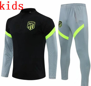 2020 2021 Kinder männliche Madrid Überlebensjacke Training Anzug Fussball Trainingsanzüge 2021 Atletico Trainingsanzug Football Jacket Trainingsanzug Set