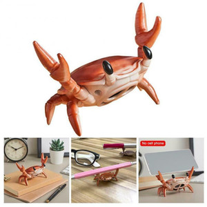 2 In 1 Creative Speaker Box Crab Bluetooth Speaker Mobile Phone Holder Portable Wireless Stereo Sound Boom-box Speakers Plastic Phone Stand