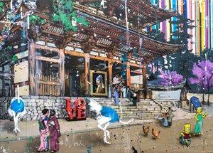 Япония стиль дома декор HDPainted HD печатает масляное живопись на холсте настенное искусство холст картинки 201218