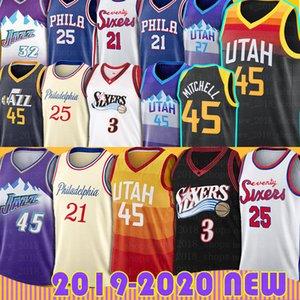Donovan Allen Mitchell Ivson Basketball Jersey Ben Joel Simmons Embiid Rudy Ricky Gobert UtahJazzs Filadelfia76ersJerseys