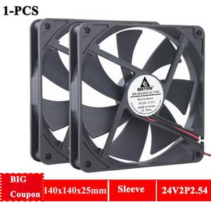 Gdstime 14cm 140mmx25mm PC Case Brushless Fan Cooler 24V DC Computer Machine Motor Cooling Fan 2Pin 1400RPM 14025s