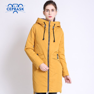 High Quality Women's Coat Spring Autum Female Windproof Thin Parka Long Plus Size Hooded New Designs Women Jackets CEPRASK 201125