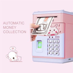 6 Kinds Electronic Piggy Bank ATM Password Money Box Fingerprint Coin Money Saving Box ATM Bank Safe Box Deposit Banknote LJ201212