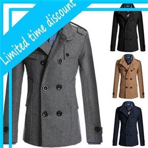 Brochette d'hiver de manteau d'hiver moyen de survêtement moyen Costume de style noir massif