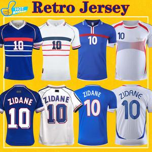 레트로 Zidane Henry Platini 축구 유니폼 1984 1998 2000 2006 Ribery Vieira National Team 84 98 00 06 클래식 축구 셔츠