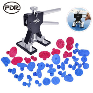 PDR Tools To Remove Dents Car Dent Repair Paintelss Dent Removal Puller Kit Lifter Removal Glue Tabs Fungi Sucker Hand Tool Set