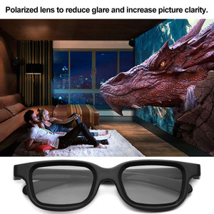2pcs Polarized Passive 3d Glasses, Used In 3d Tv Real 3d Cinema, Suitable For Sony Panasonic Wholesale Price Dropshipping
