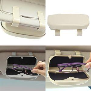Автомобильные автомобильные ящики для хранения автомобилей Держатель для солнцезащитных очков сплошной цвет неповрежденной валюты модные аксессуары интерьера украшения 13DM M2