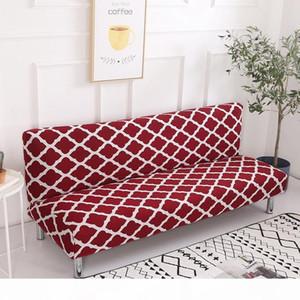 Sin reposabrazos abrigo apretado cubiertas resistentes a los deslizamientos para sofás cama 155-200 cm Funda de sofá Tres Plazas Sofá seccional Cubiertas