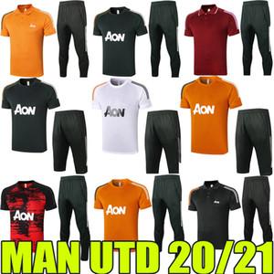 2020 2021 Manchester Tracksuits Polo Camicie Pantaloni medio B.fernandes Van de Beek Rashford Training Jersey Man Utt Pre-Match Shirts Quick-Dry-Dry