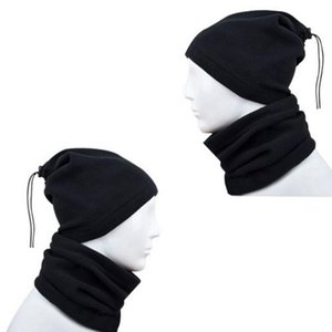 4 in 1 Scarf Winter Unisex Women Men Black Sports Warm Thermal Snood Neck Warmer Face Mask Beanie Hats Wear Collar
