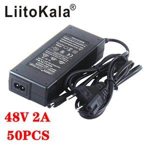 50pcs LIITOKALA 48V 2A Cargador 13S 18650 Cargador de la batería 54.6V 2A La presión constante de la corriente está llena de auto-paro