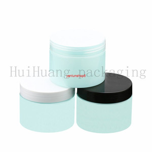 30pcs 150g green Plastic PET Mask Lotion Empty Cream Jars Cosmetic Packaging Refillable Bottles Containers wholesalegood package