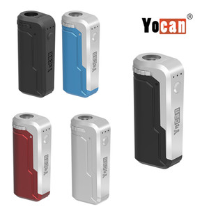 Authentic Yocan UNI Box Mod 650mAh Battery Preheat Variable Voltage VV Vape With Magnetic 510 Adapter For Thick Oil Cartridge 100% Original