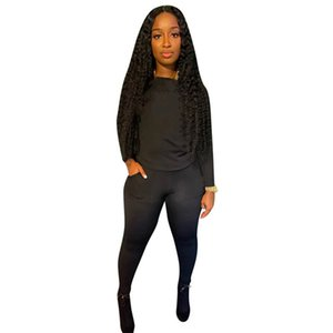 womens two piece set tracksuit shirt pants outfits long sleeve sportswear shirt trousers sweatsuit pullover tights sportswear hot klw5326