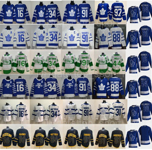 Retro Retro Toronto Leafs Auston Matthews Jersey John Tavares Mitchell Marner William Nylander Andersen Morgan Rielly Joe Thornton