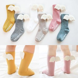 Angel Wing Baby Girl Socks Soft Cotton Autumn Winter Kids Socks Anti Slip Candy Color Toddler Children Short
