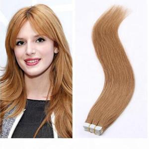 Nastro in estensioni per capelli 100% Real Remy Human Hair Invisible Skin Skin Treet nastro Estensioni per capelli PU Senza trama