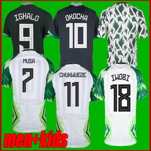 2020 Musa Osimhen Jersey de football 20 21 Maillot de pied Okechukwu Ighalo Okocha Ahmed Musa Ndidi Mikel Iheanacho Hommes Chemises football enfants