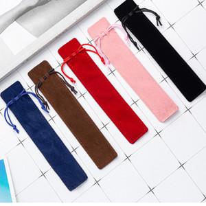 Plüsch Samt Stift Tasche Halter Single Bleistift Tasche Stiftkoffer mit Seil Büro Schule Schreiben von Lieferungen Student Weihnachtsgeschenk YHM461
