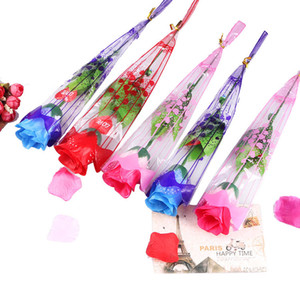 Creative LED Light Up Artificial Fake Rose Simulation Decorative Flowers For Valentines Day Girls Gift Bouquet Mul-Colors GA125
