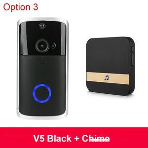 2020 جديد الذكية IP فيديو إنترفون الجرس WIFI هاتف الفيديو جرس الباب WIFI الجرس الأشعة تحت الحمراء انذار كاميرا لاسلكية الأمن الرئيسية الذكية V5 الباب