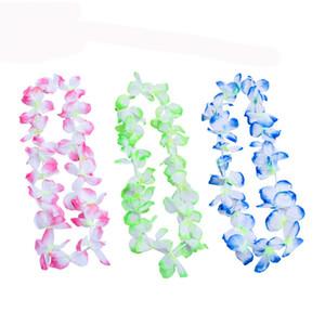 The New Party Supplies Silk Hawaiian Flower Lei Garland Hawaii Wreath Cheerleading Products Hawaii Necklace YYE3427