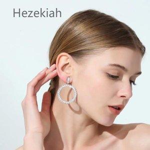 Hezekiah 925 Tremella needle Lady noble Earrings Tassel Eardrop Personalized fashion earrings Shiny Earrings Dance party Free shipping