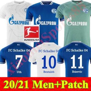 جديد 20 21 Schalke 04 Soccer Jerseys 2021 2020 Bentaleb Uth Ozan McKennie Caligiuri Raman Bentaleb Burgstaller Ibisevic Men Football Shirts