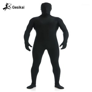 Gesikai Men's Spandex Zentai Lycra Full Body Tuta da uomo Zentai Suit Personalizzato Second Skin Tights Suit Halloween Costume1