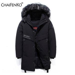 CHAIFENKO Brand Winter Warm Down Jacket Men Casual Windproof Thick Hooded Parkas Men Solid Fashion Cargo Windbreaker Coat Mens 201204